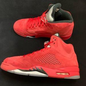 Jordan Shoes - Authentic Retro Air Jordan 5 (Red Suede) - Sz 13